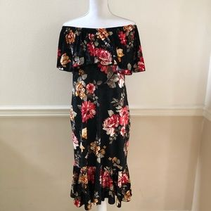 Lularoe Crushed Velvet Cici Dress Size Medium